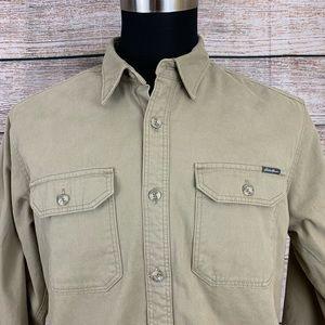 Eddie Bauer Button Fleece Lined Jacket Large